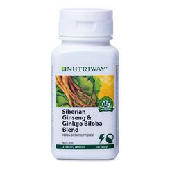NUTRIWAY® Siberian Ginseng & Ginkgo Biloba - 100 Tablets