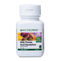 NUTRIWAY® Milk Thistle and Dandelion - 60 Tablets