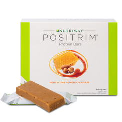 NUTRIWAY® POSITRIM® Protein Bars - Honeycomb Almond - 9pk